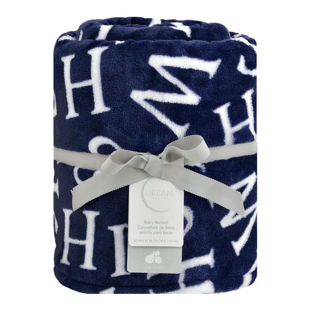 "Dream ""Wish"" Plush Blanket, Navy-Gerber Childrenswear"