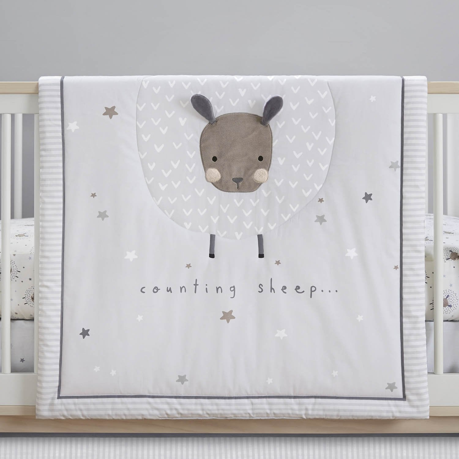 Just Born One World Collection 3-Piece Bedding Set - Counting Sheep-Gerber Childrenswear