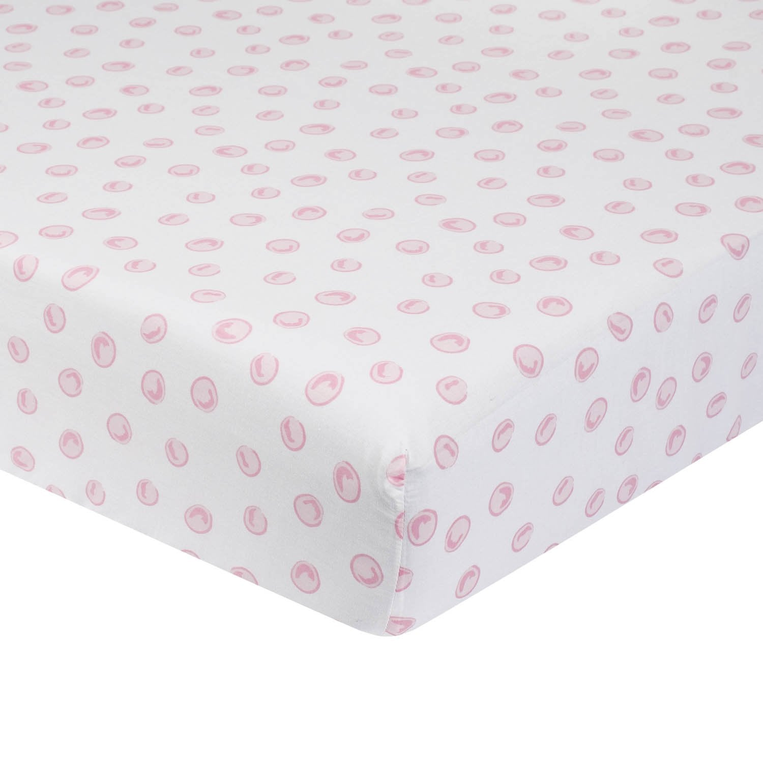 Just Born One World Collection Polka Dot Fitted Crib Sheet - Blossom-Gerber Childrenswear