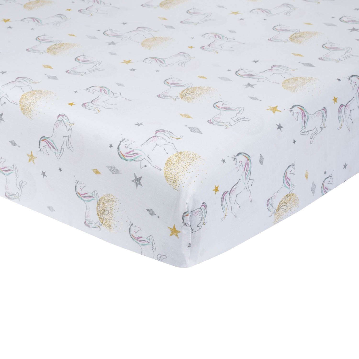 Just Born One World Collection Fitted Crib Sheet - Love & Sugar-Gerber Childrenswear