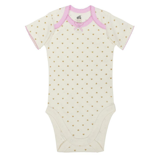 Just Born Bunny 4-Pack Organic Short-Sleeve Baby and Infant Girl Bodysuits