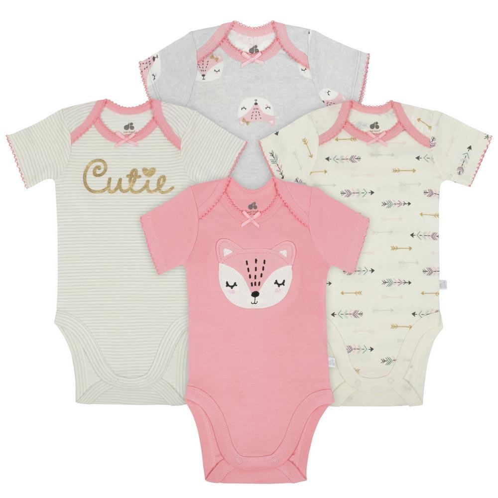 Just Born 4 Pack Baby Girl Bodysuits