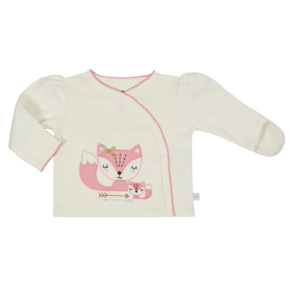 Just Born® Baby Girls Fox 3-Piece Organic Shirt, Pants & Cap Set-Gerber Childrenswear