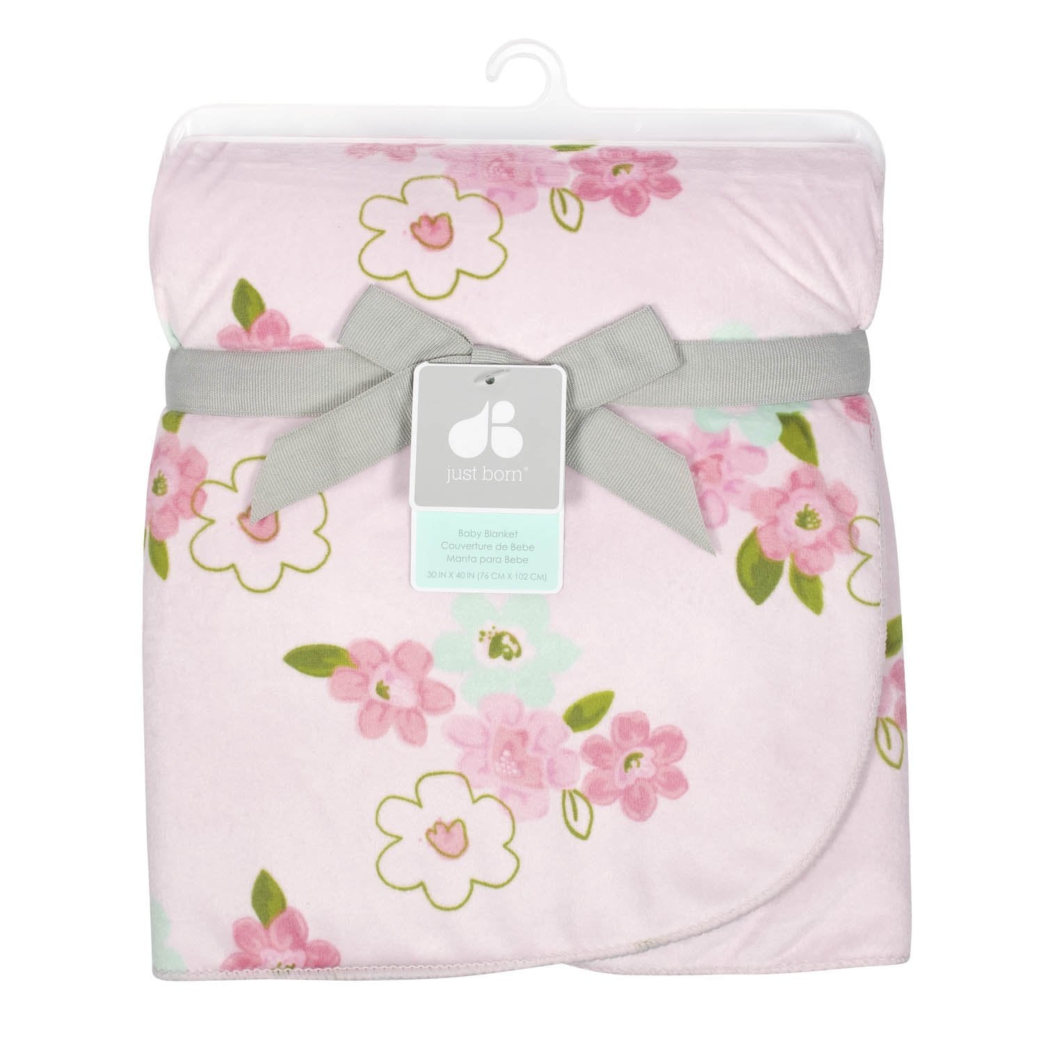 Just Born One World Collection Plush Blanket - Blossom-Gerber Childrenswear