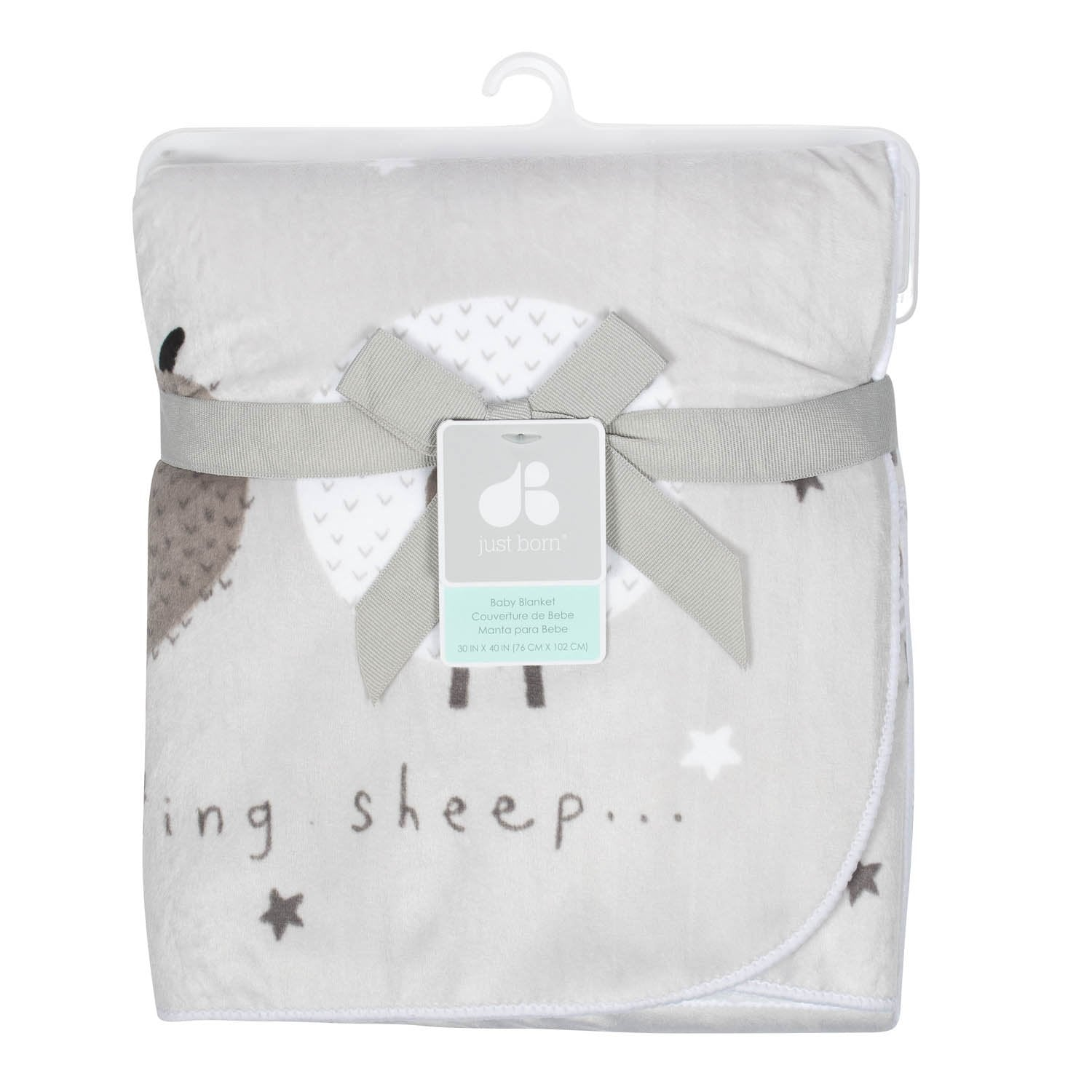 Just Born One World Collection Plush Blanket - Counting Sheep-Gerber Childrenswear