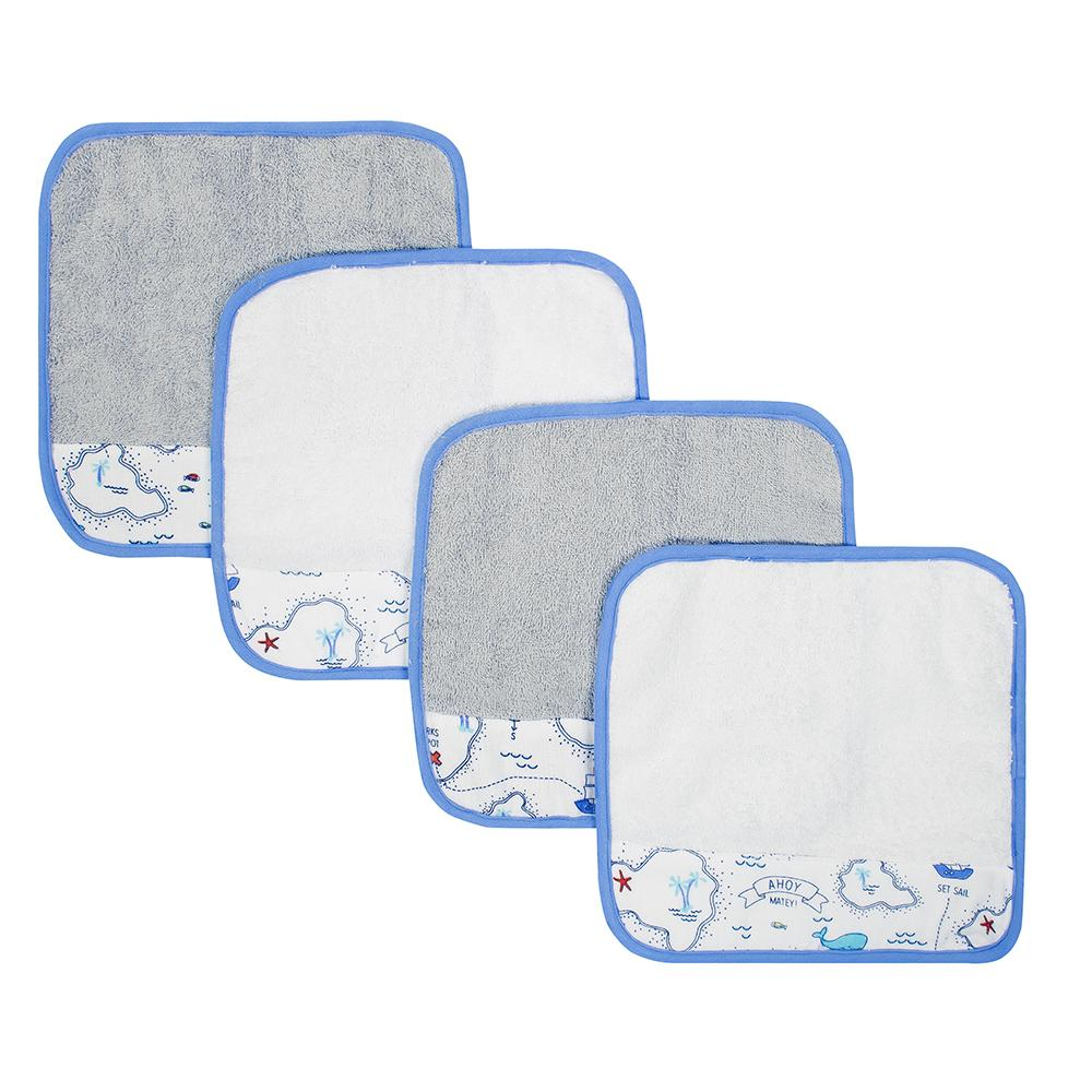 Just Born® 4-Pack Sailing Woven Washcloths-Gerber Childrenswear