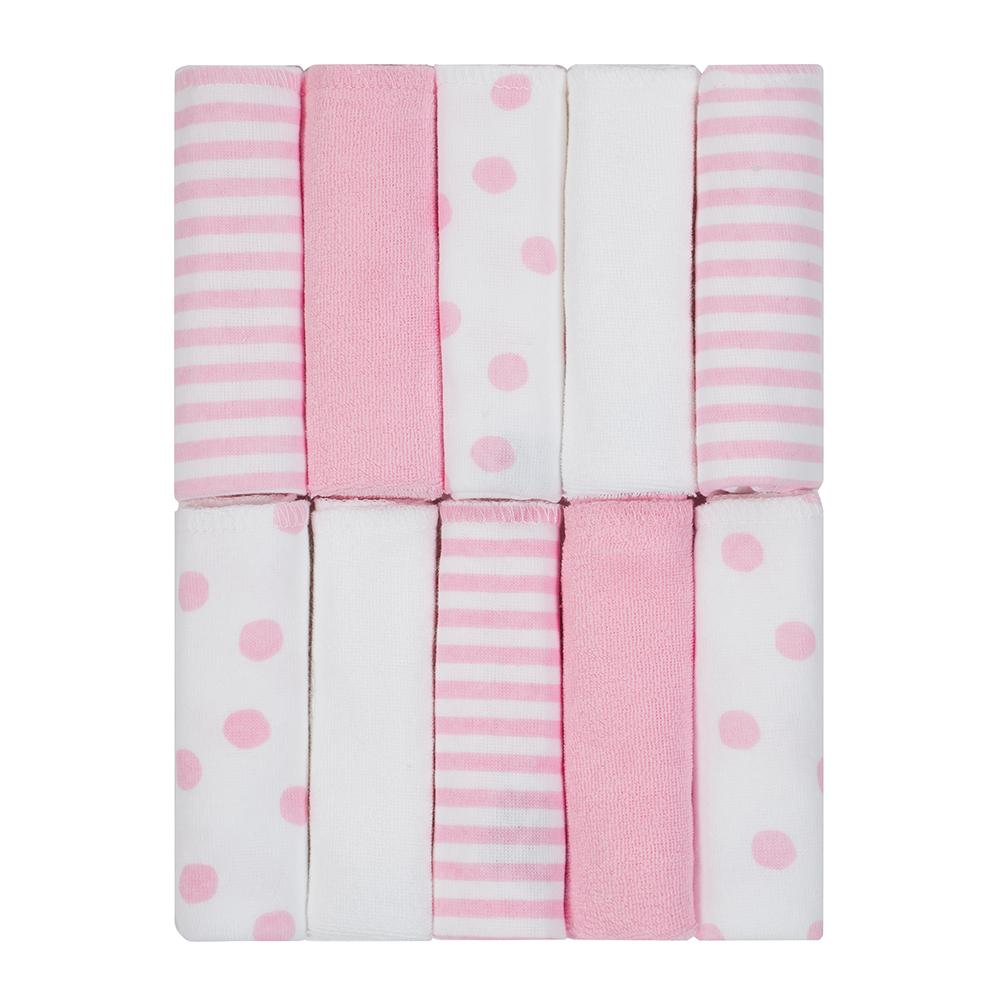 Just Born Baby Girl 10-pack Terry Washcloths