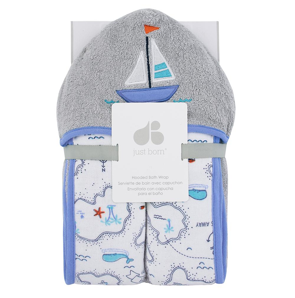 Just Born® Sailing Hooded Towel-Gerber Childrenswear