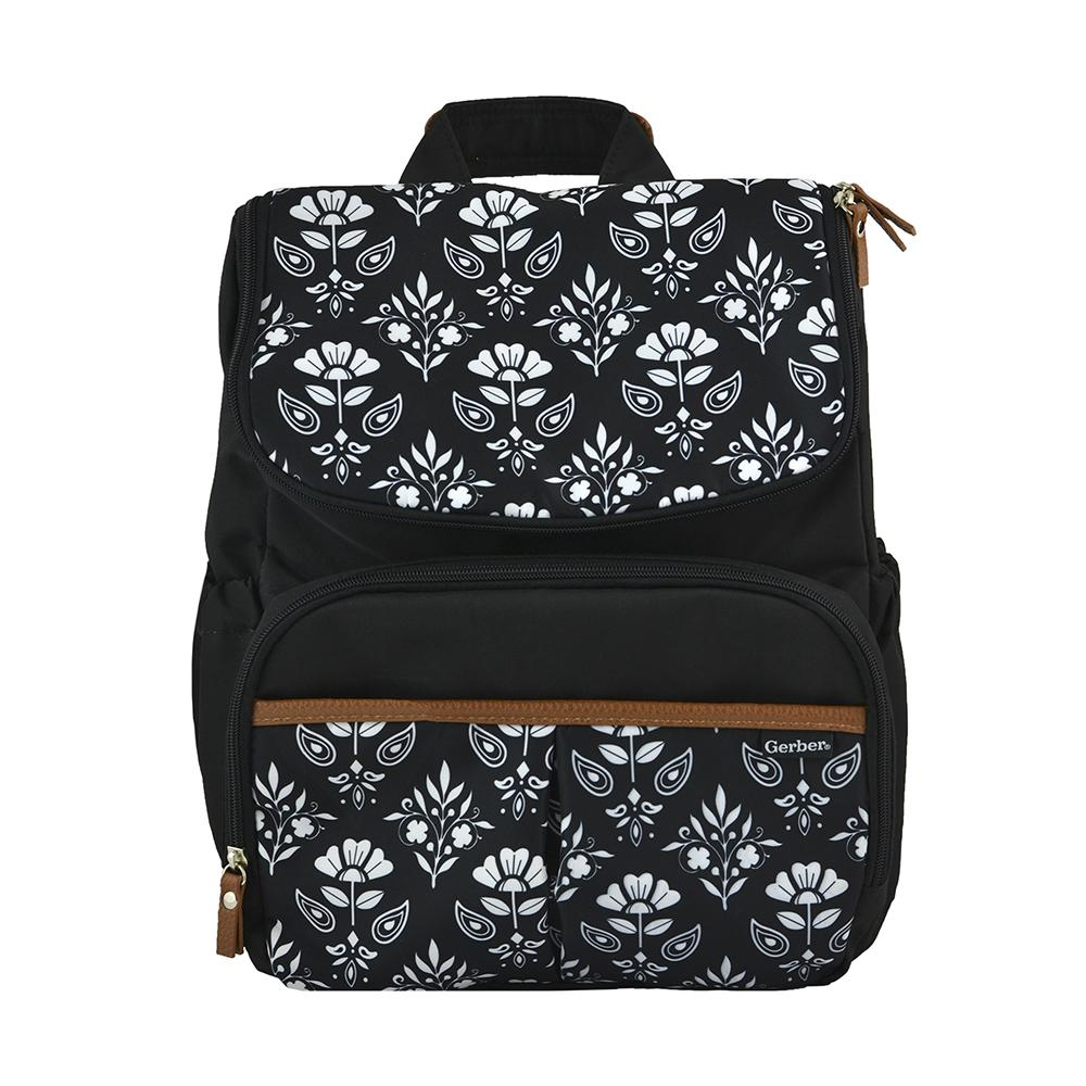 Diaper Bag Backpack in Floral Geo Print