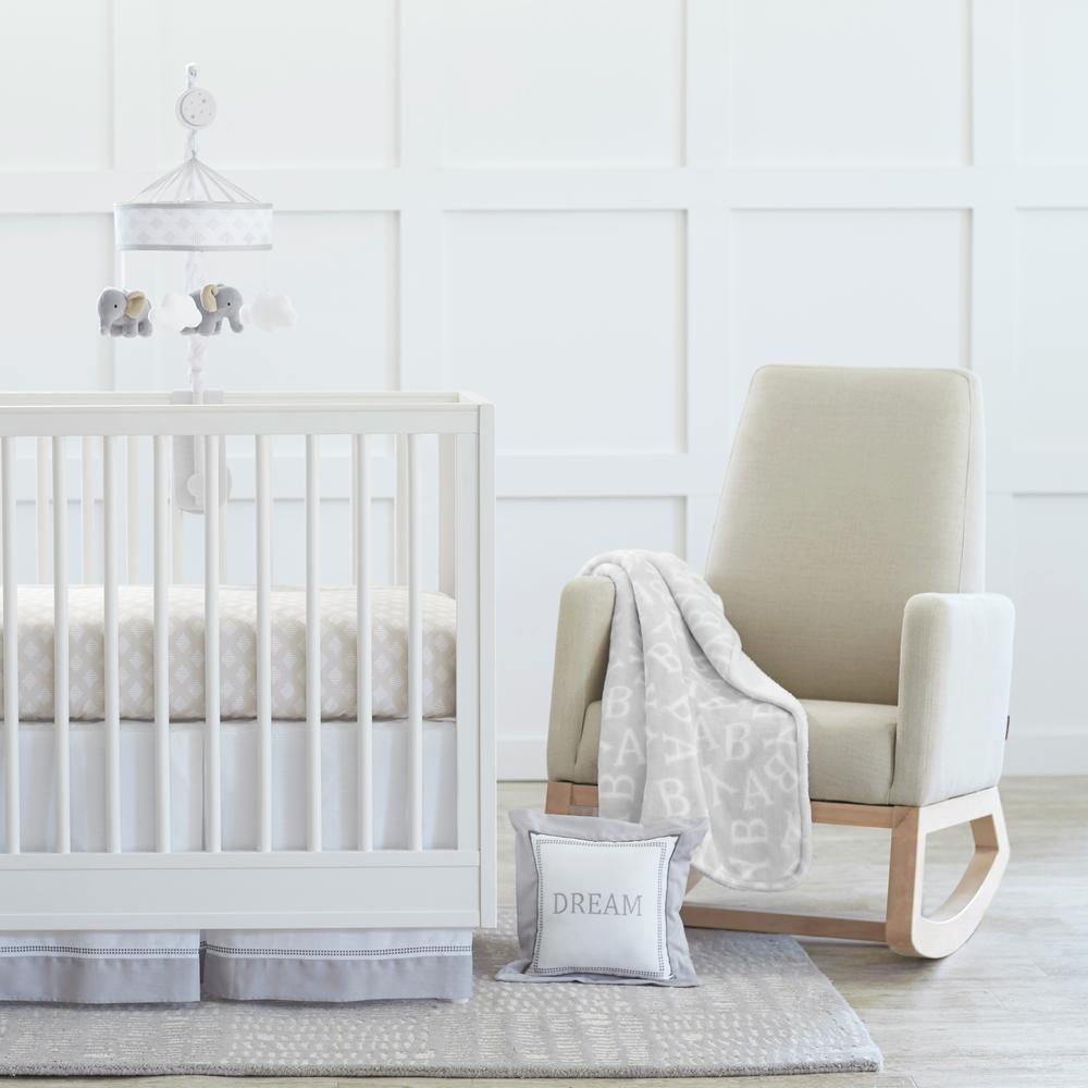 Just Born Dream 3-Piece Crib Set, Taupe/Gray-Gerber Childrenswear