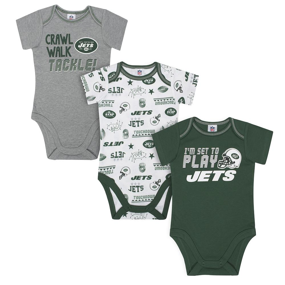 Jets Baby Boys 3-Pack Short Sleeve Bodysuit-Gerber Childrenswear