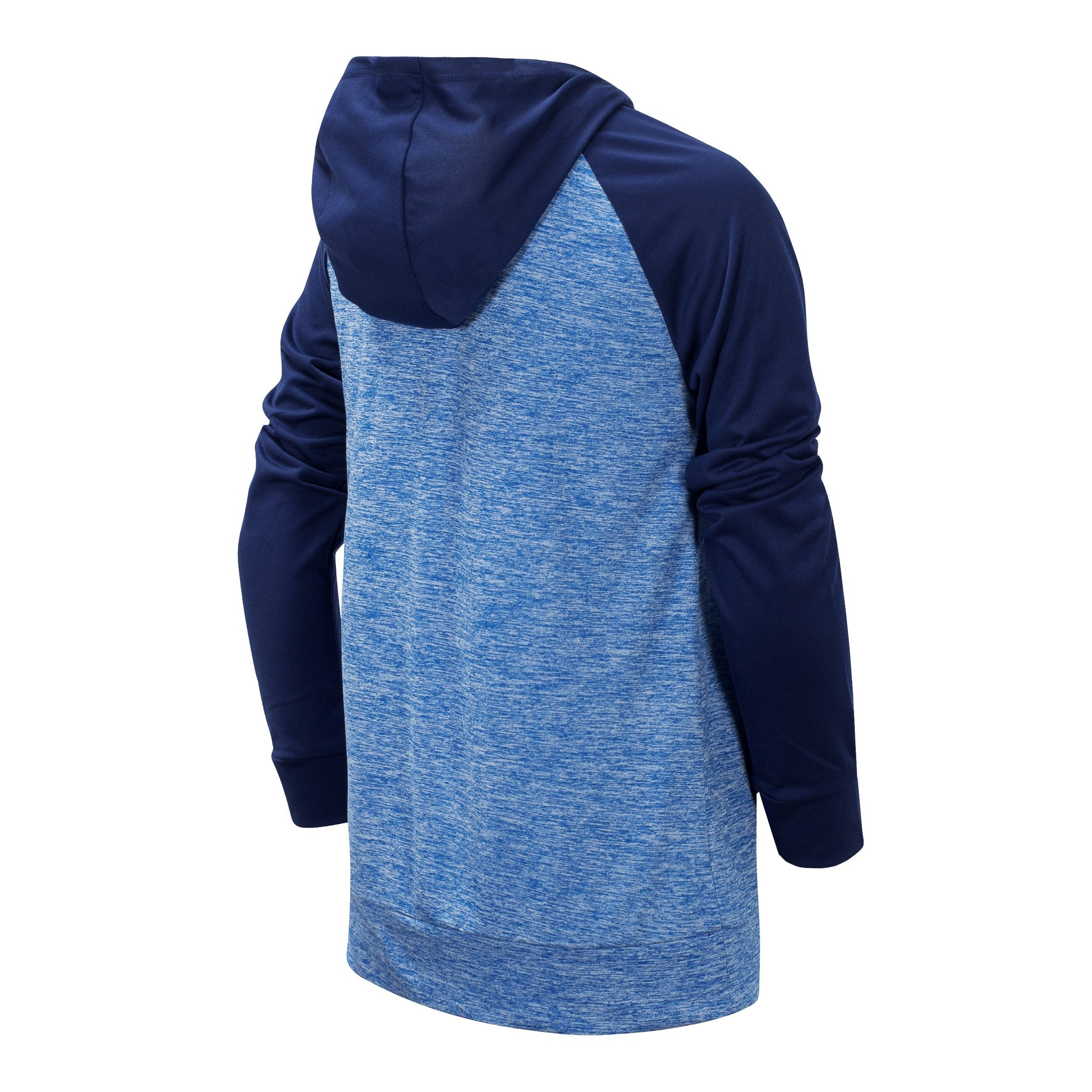 Boys' Lapis Blue Long Sleeve Hooded Performance Top