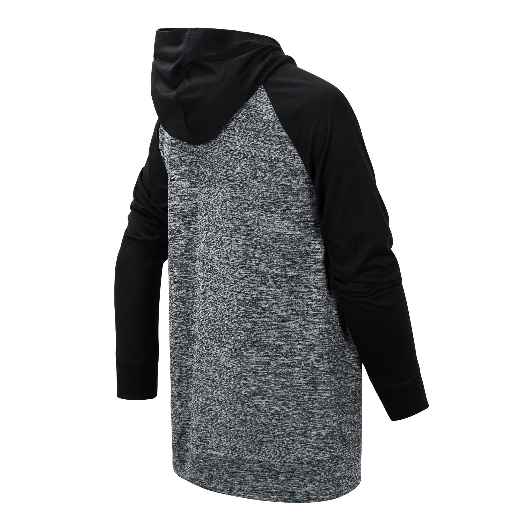 Boys' Black Long Sleeve Hooded Performance Top