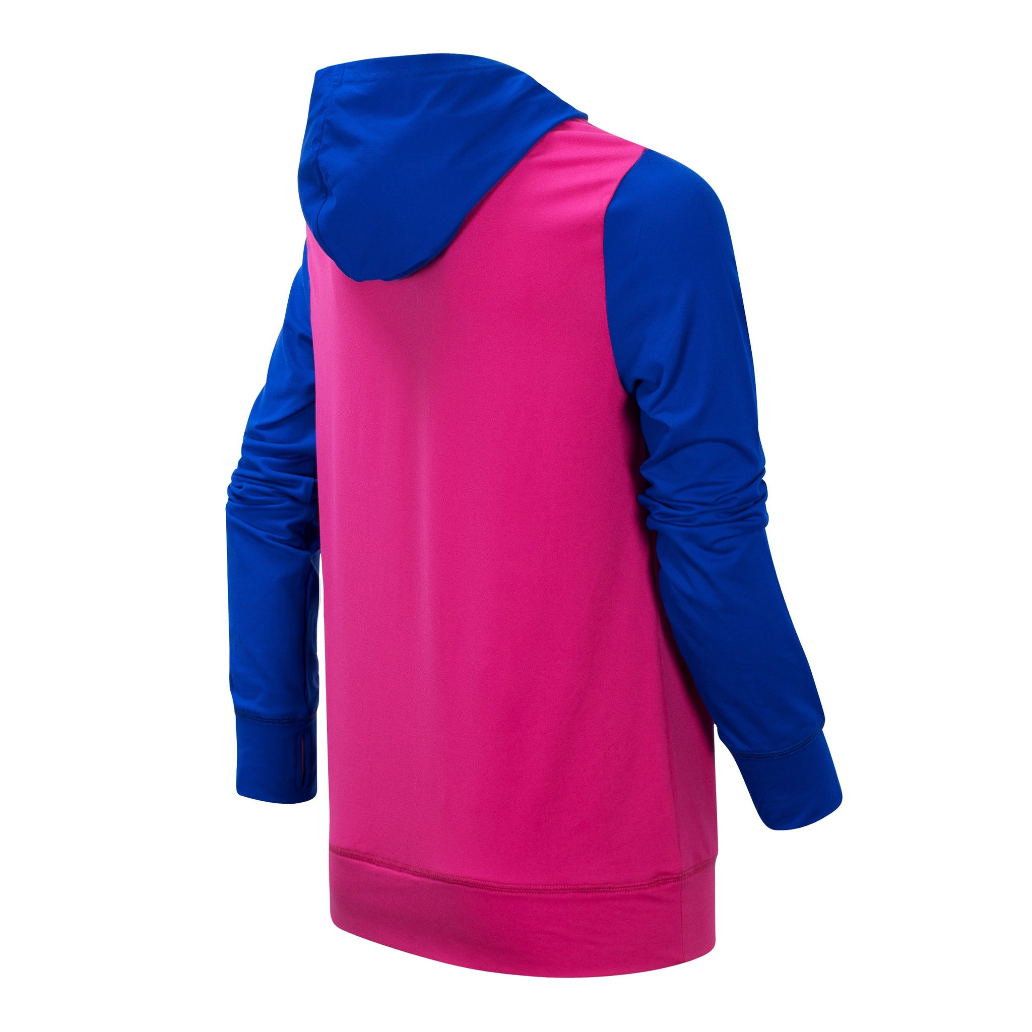 Girl's Carnival Pink and UV Blue Hooded Pullover