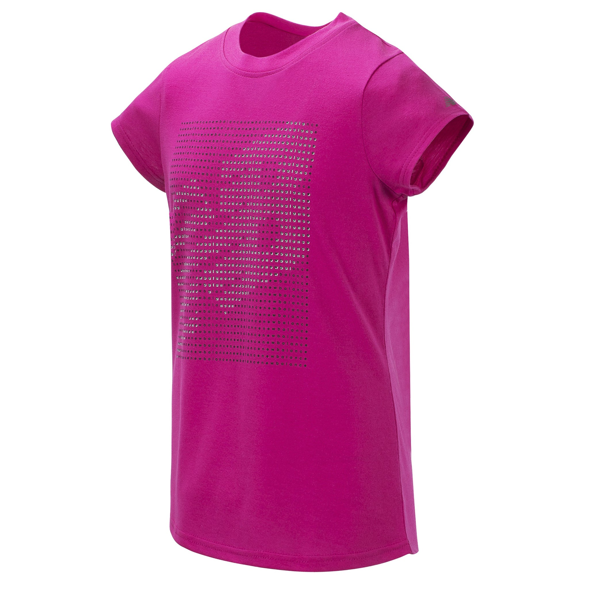 Girls' New Balance Carnival Pink with Glitter Short Sleeve Graphic Tee