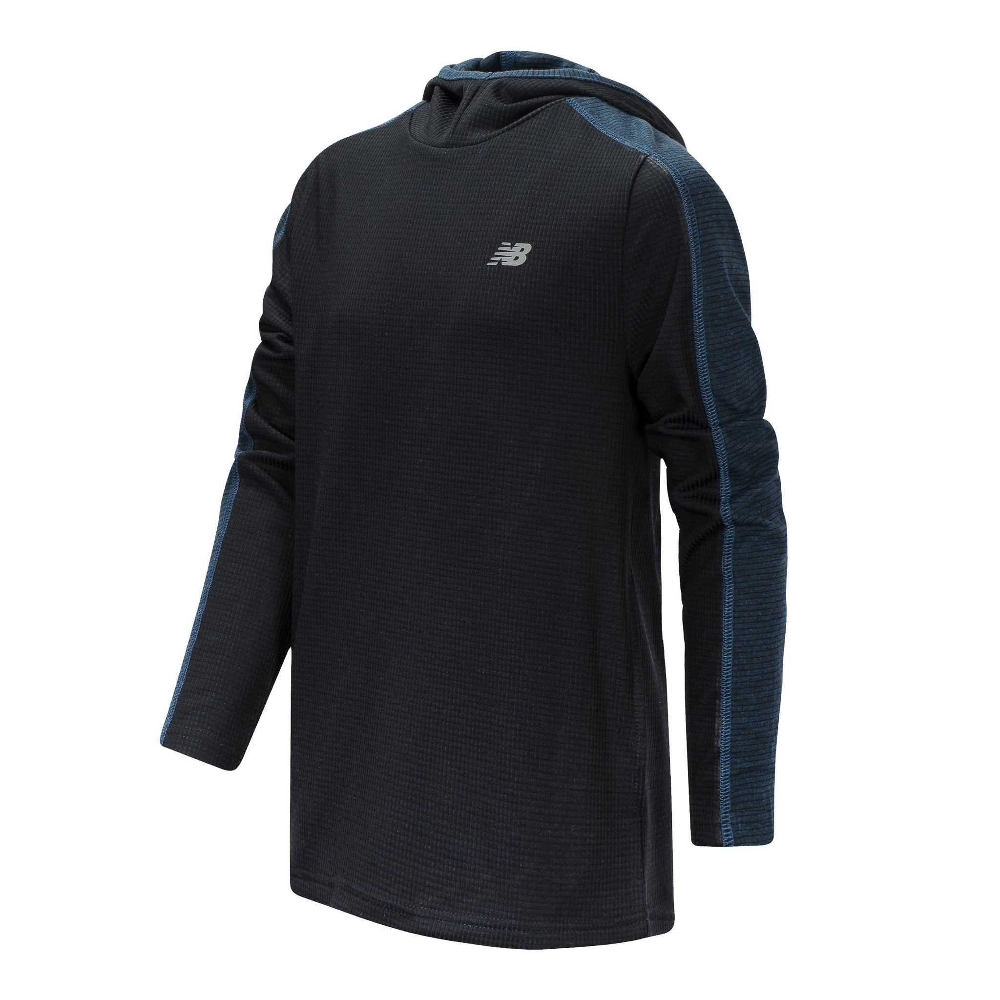 Boys' New Balance Black and Lapis Blue Hooded Pullover