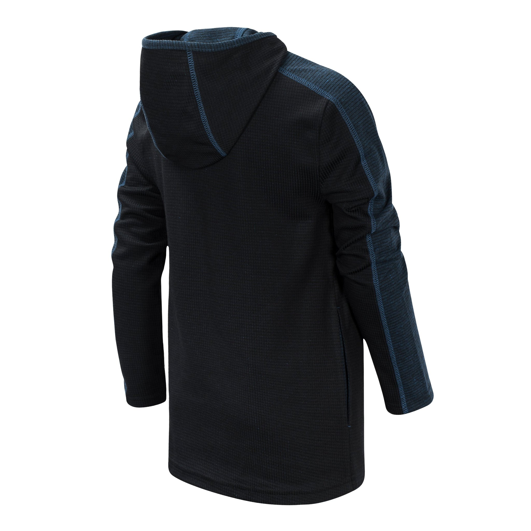 Boys' Black and Lapis Blue Hooded Pullover