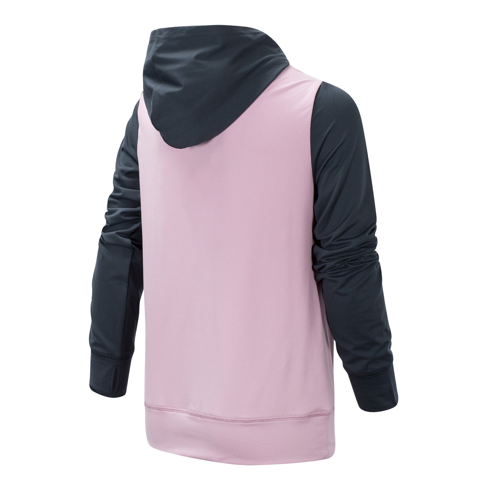 Girls' Oxygen Pink and Thunder Hooded Pullover
