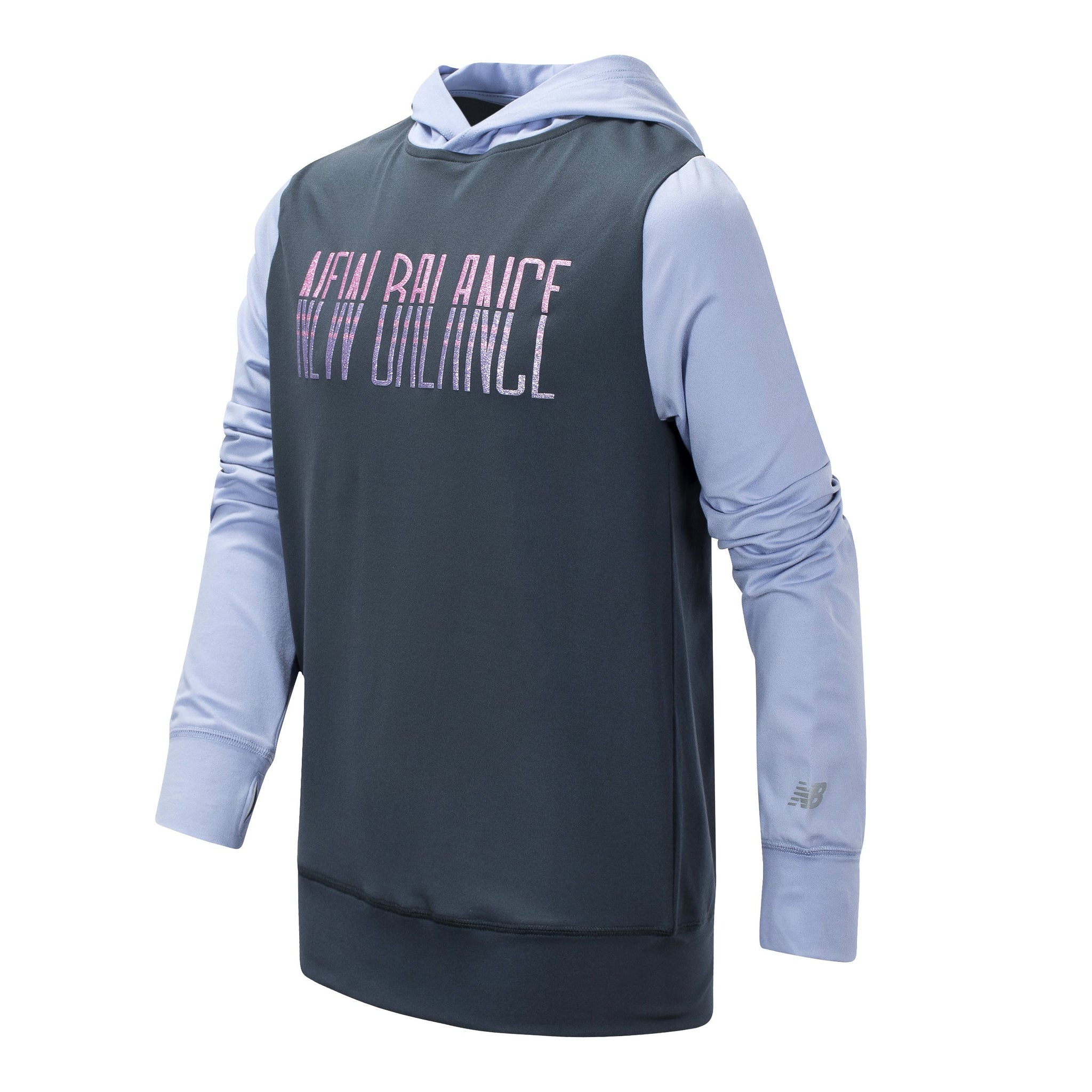 Girls' New Balance Thunder and Clear Amethyst Hooded Pullover