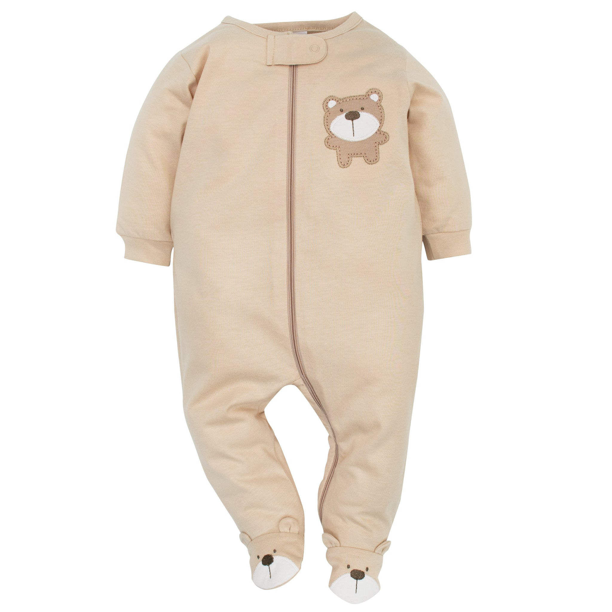 2-Pack Neutral Brown Bear Sleep N' Play-Gerber Childrenswear