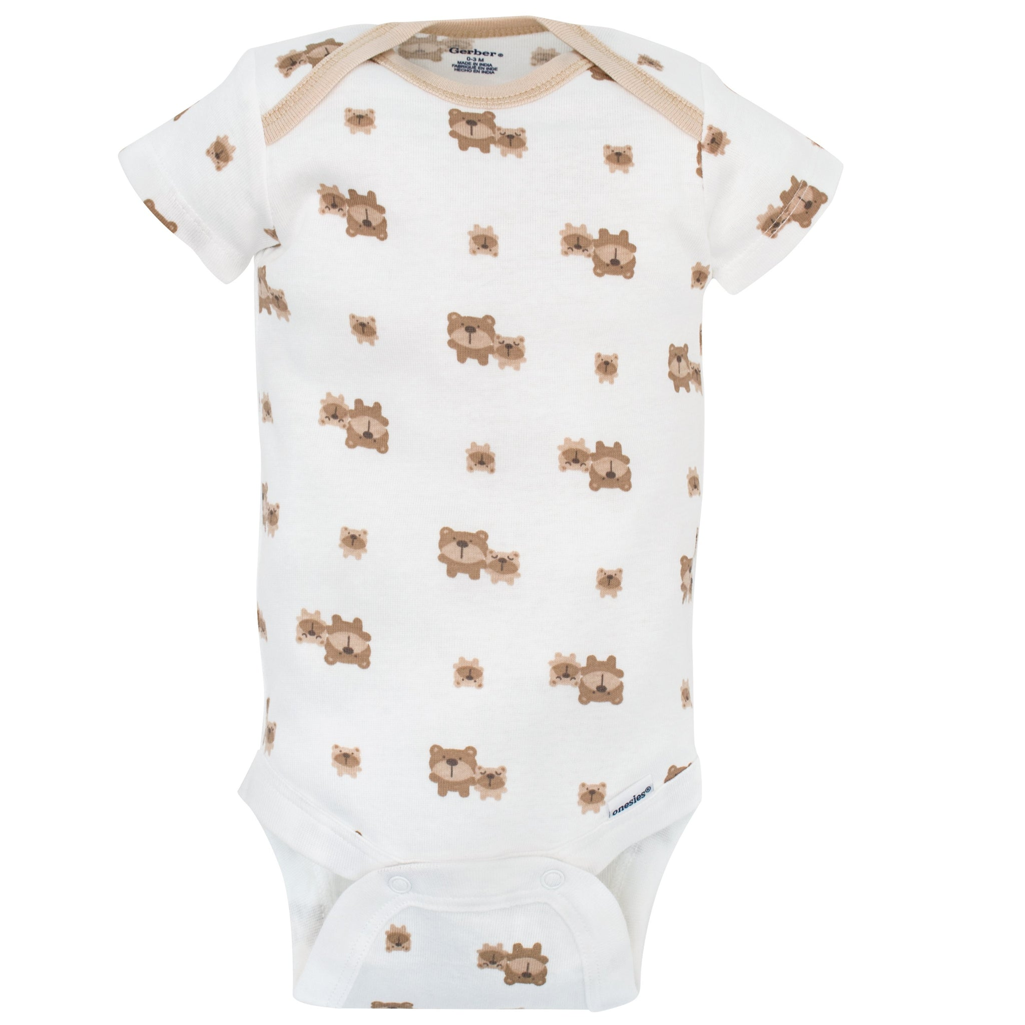 5-Pack Neutral Brown Bear Variety Onesies Bodysuits