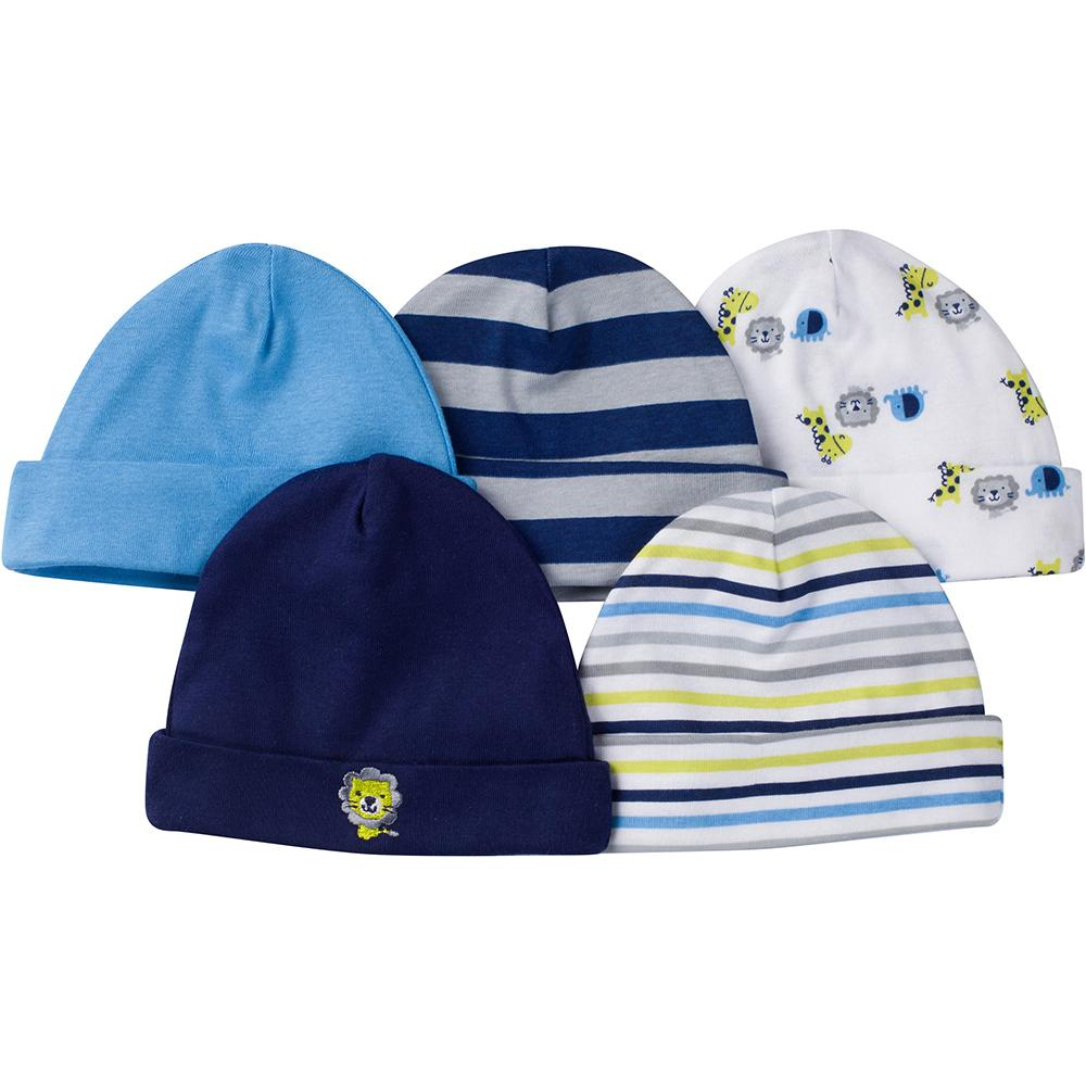 9-Piece Boys Jungle Caps & Mittens Set-Gerber Childrenswear