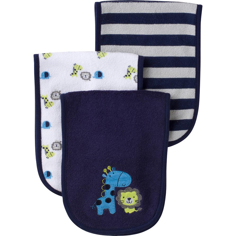 3-Pack Boys Jungle Terry Burpcloths