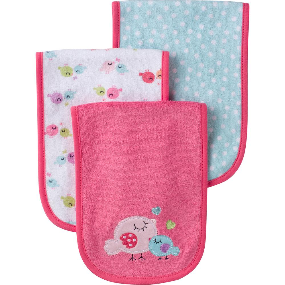 3-Pack Girls Little Bird Terry Burpcloths-Gerber Childrenswear