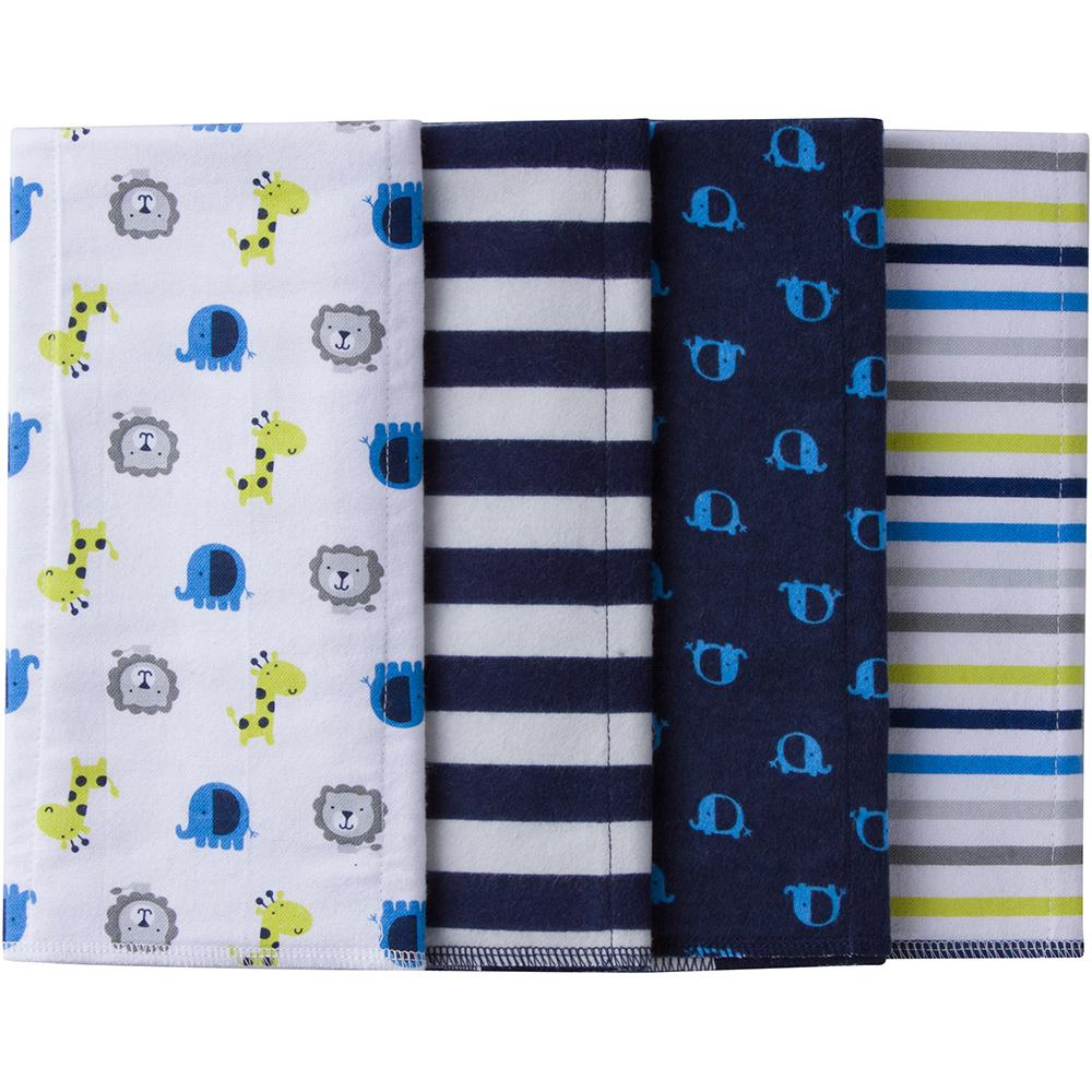 Gerber® 4-Pack Boys Jungle Flannel Burpcloths