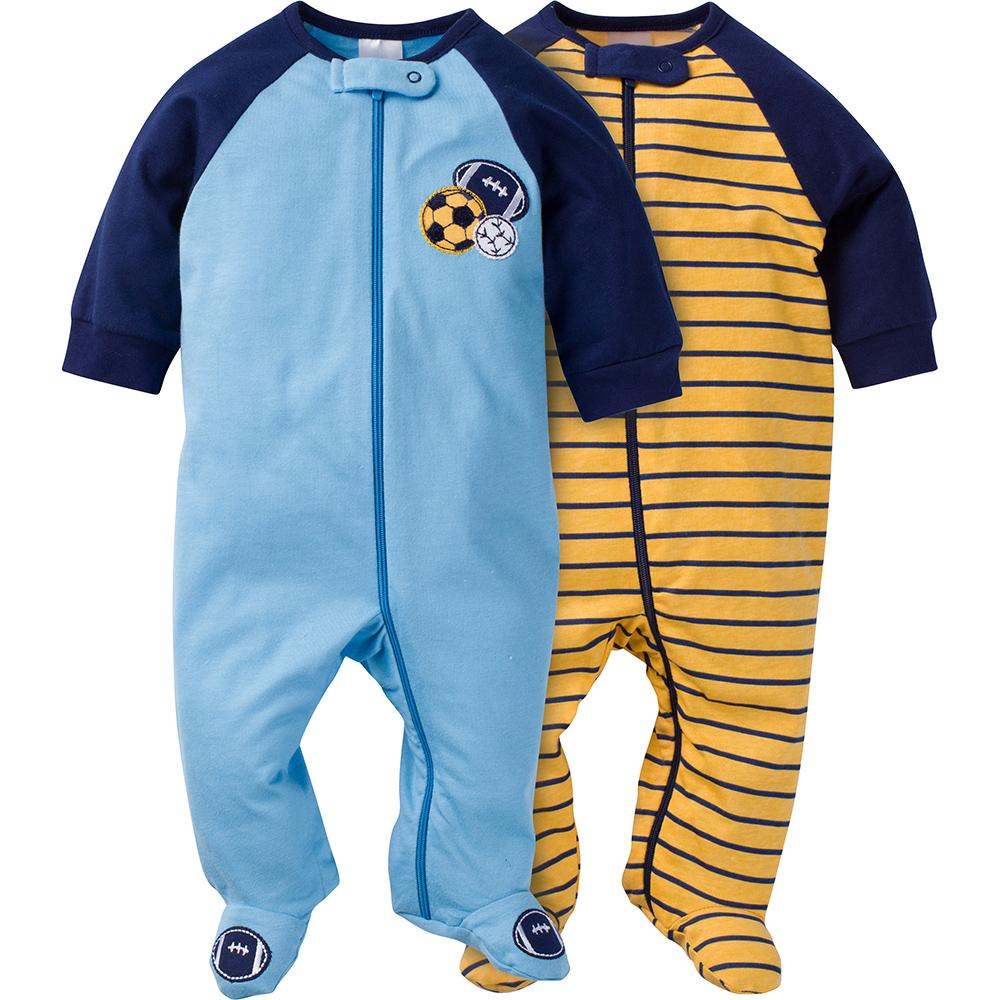 2-Pack Boys Sports Sleep N' Play-Gerber Childrenswear