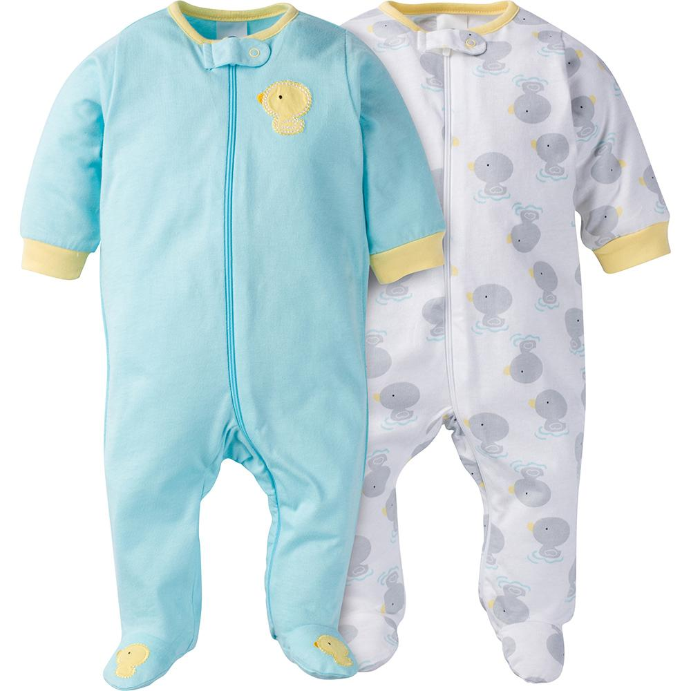 2-Pack Neutral Duck Footed Sleep N' Play