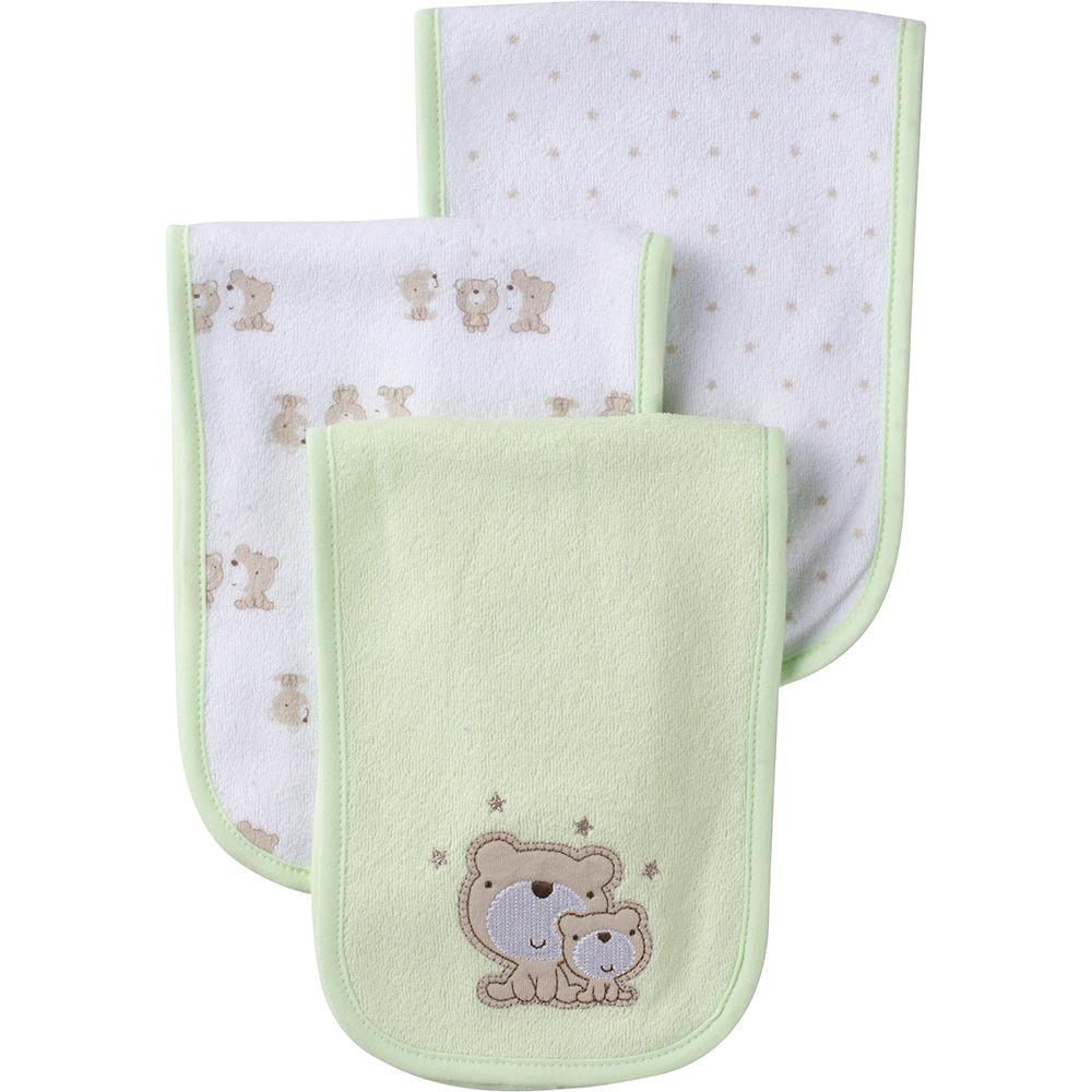 3-Pack Neutral Mint Green Bear Terry Burpcloths-Gerber Childrenswear