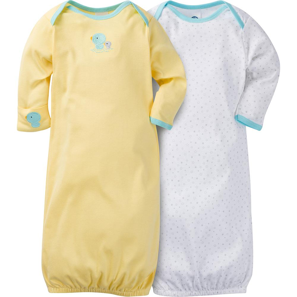 2-Pack Neutral Ducks Mitten Cuff Gowns