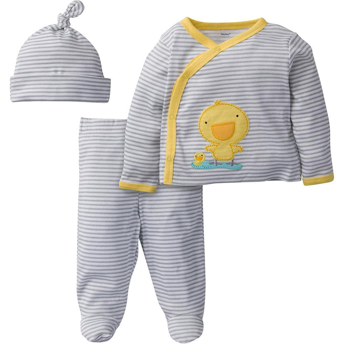 b0682906d 3-Piece Neutral Yellow Duck Take-Me-Home Set – Gerber Childrenswear