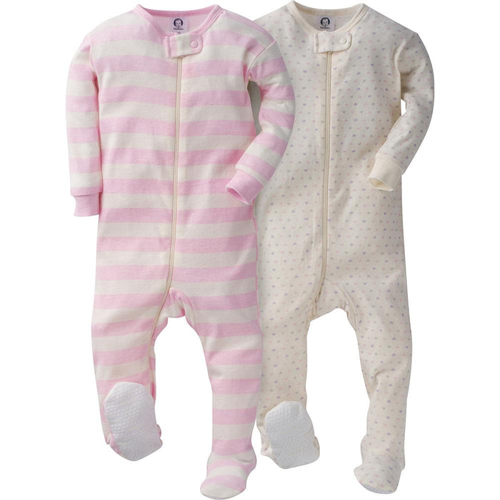a0085be7e9b8 2-Pack Girls Pink Snug Fit Footed PJs – Gerber Childrenswear