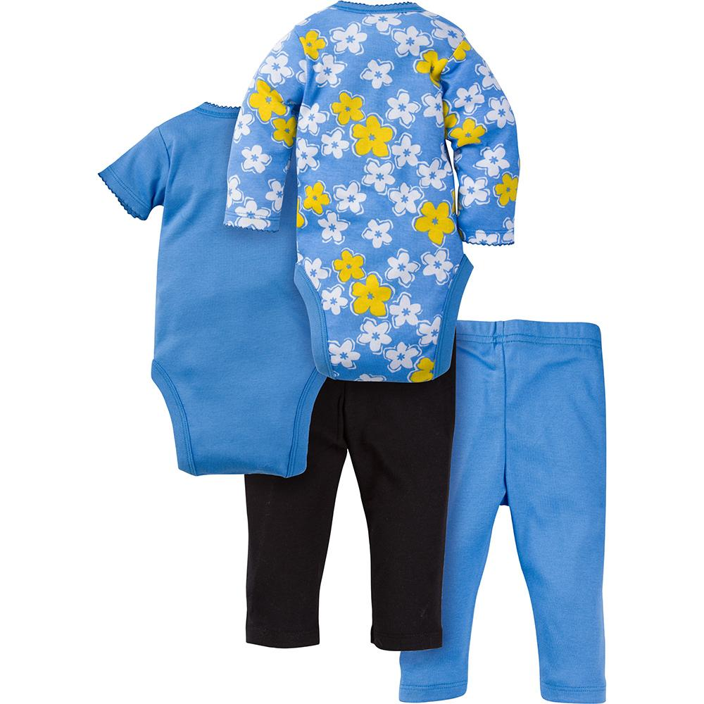 4-Piece Girls Daisy Bodysuit & Pant Set - Back