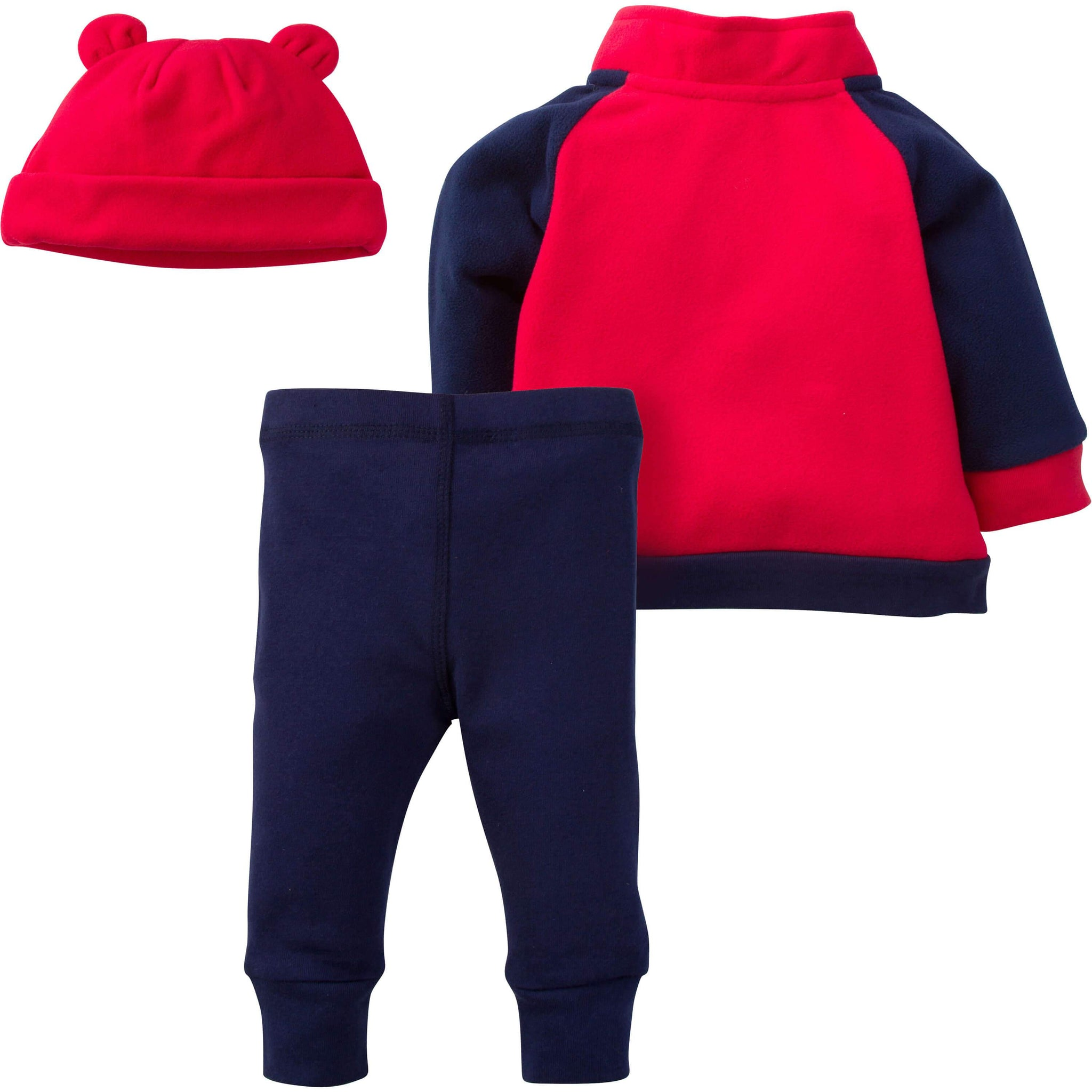 3-Piece Boys Football Microfleece Top, Pant & Cap Set