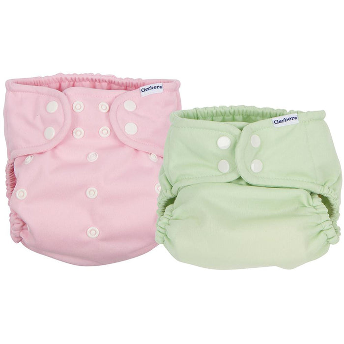 2 Pack Girls Pink Green All In One Snap Cloth Diaper Gerber Childrenswear