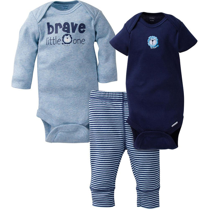 29c5bf151 3-Piece Boys Navy Lion Take-Me-Home Set – Gerber Childrenswear