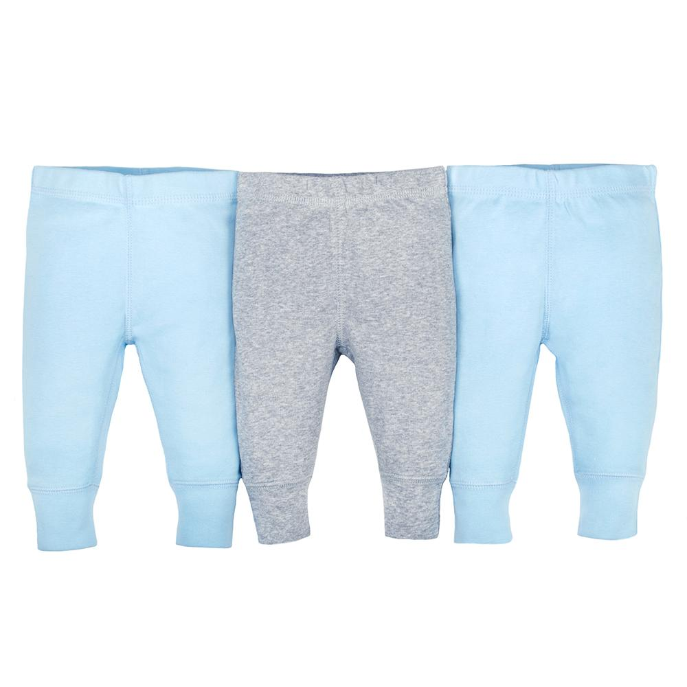 3-pack Organic Boys Blue & Grey Active Pants