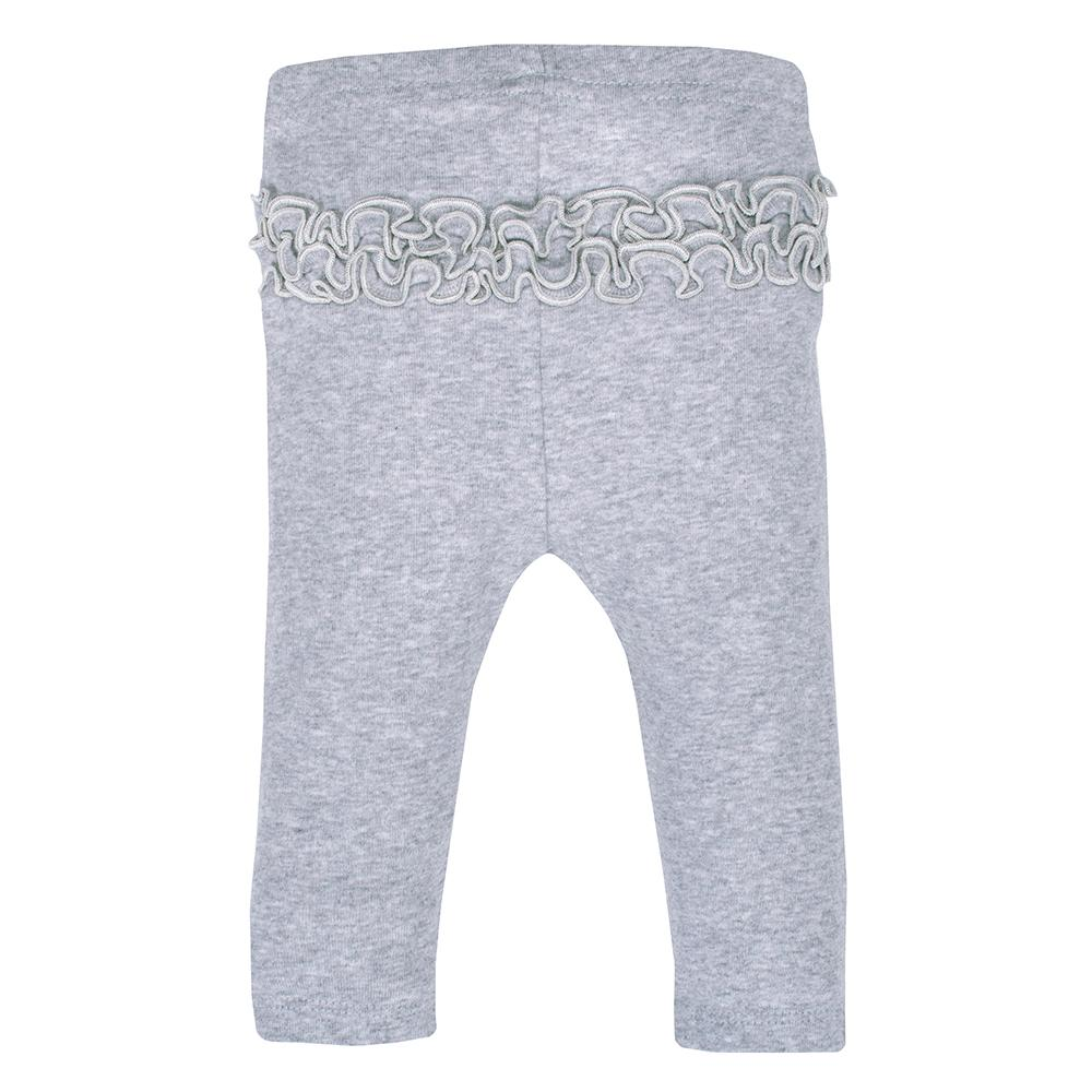 3-Pack Organic Girls Pink & Grey Ruffle Back Slim Pant