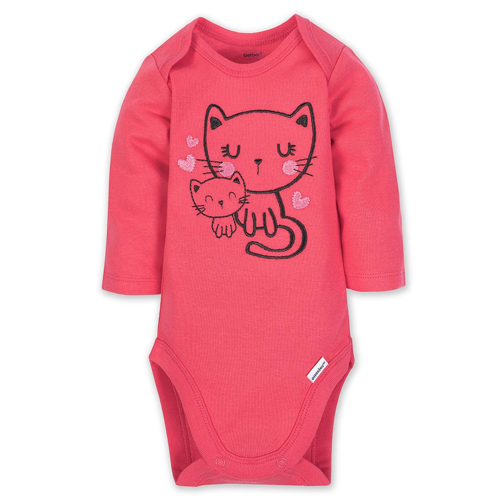 3-Piece Girl Kitty Bodysuit & Pants Set