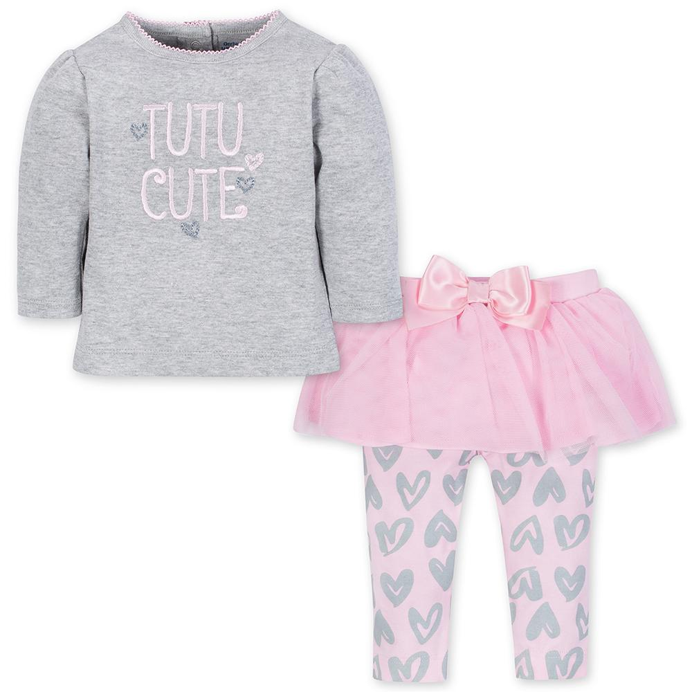 2-Piece Girls Tutu Cute Top & Tutu Legging Set