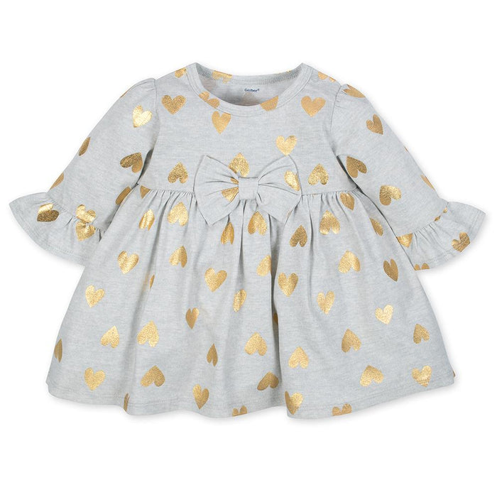92dd157aa 2-Piece Girls Gold Hearts Dress & Legging Set – Gerber Childrenswear