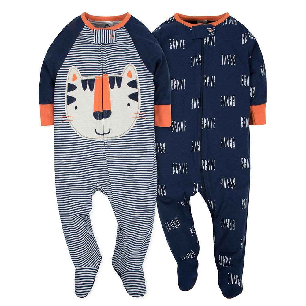 2-Pack Baby Boys Tiger Sleep N' Play-Gerber Childrenswear