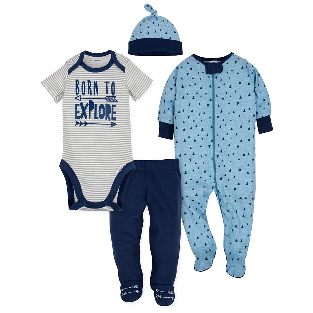 4-Piece Boys Hedgehog Take-Me-Home Set