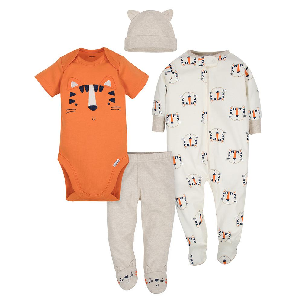 4-Piece Boys Tiger Bundled Gift Set-Gerber Childrenswear
