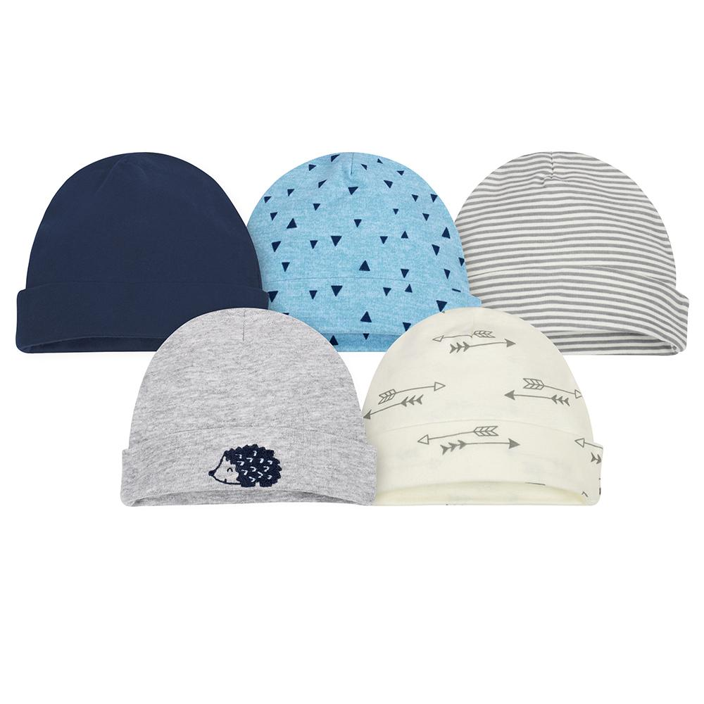 5-Pack Boys Hedgehog Caps