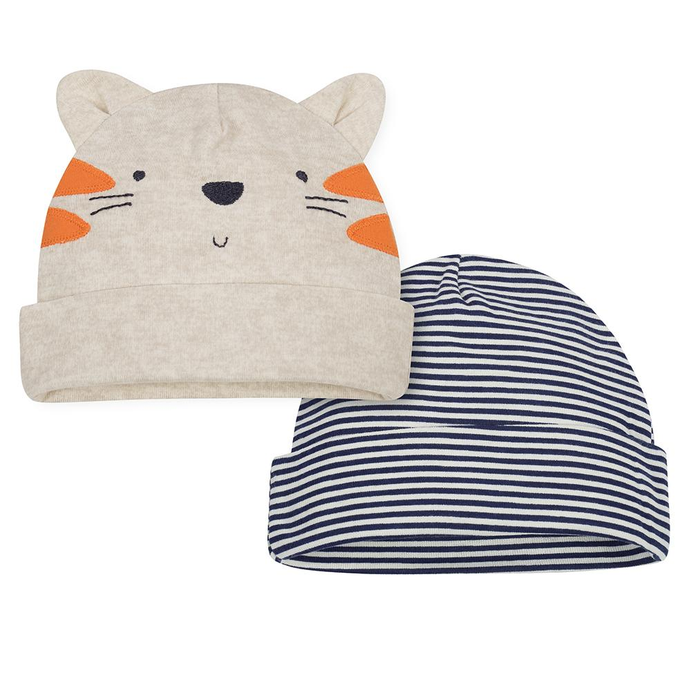2-Pack Boys Tiger Caps-Gerber Childrenswear