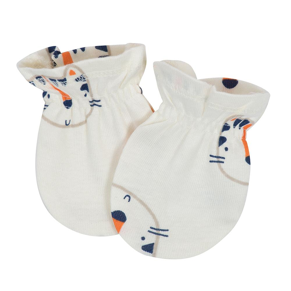 4-Pack Boys Tiger Themed Mittens